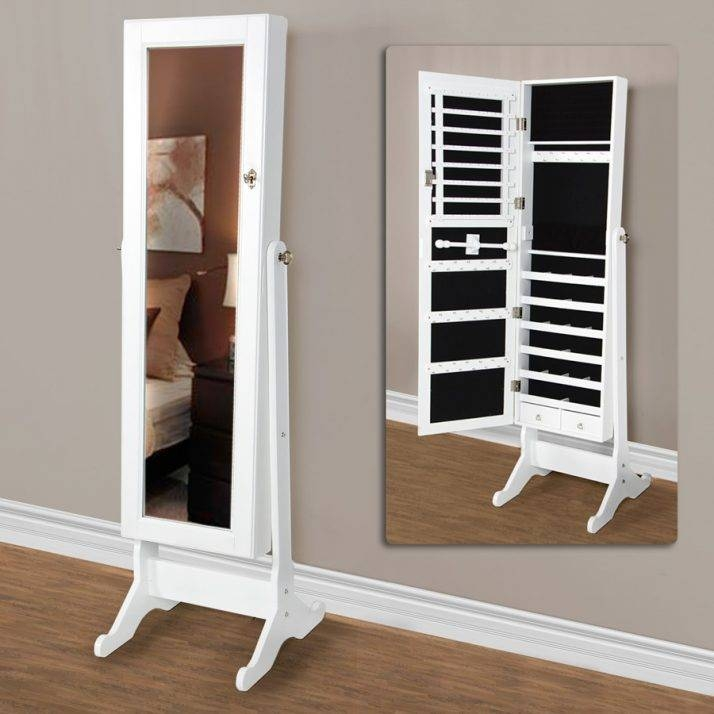 Trendy Jewelry Cabinet Mirror Free Standing 142 Free Standing For Free Standing Mirrors With Drawer (View 20 of 20)