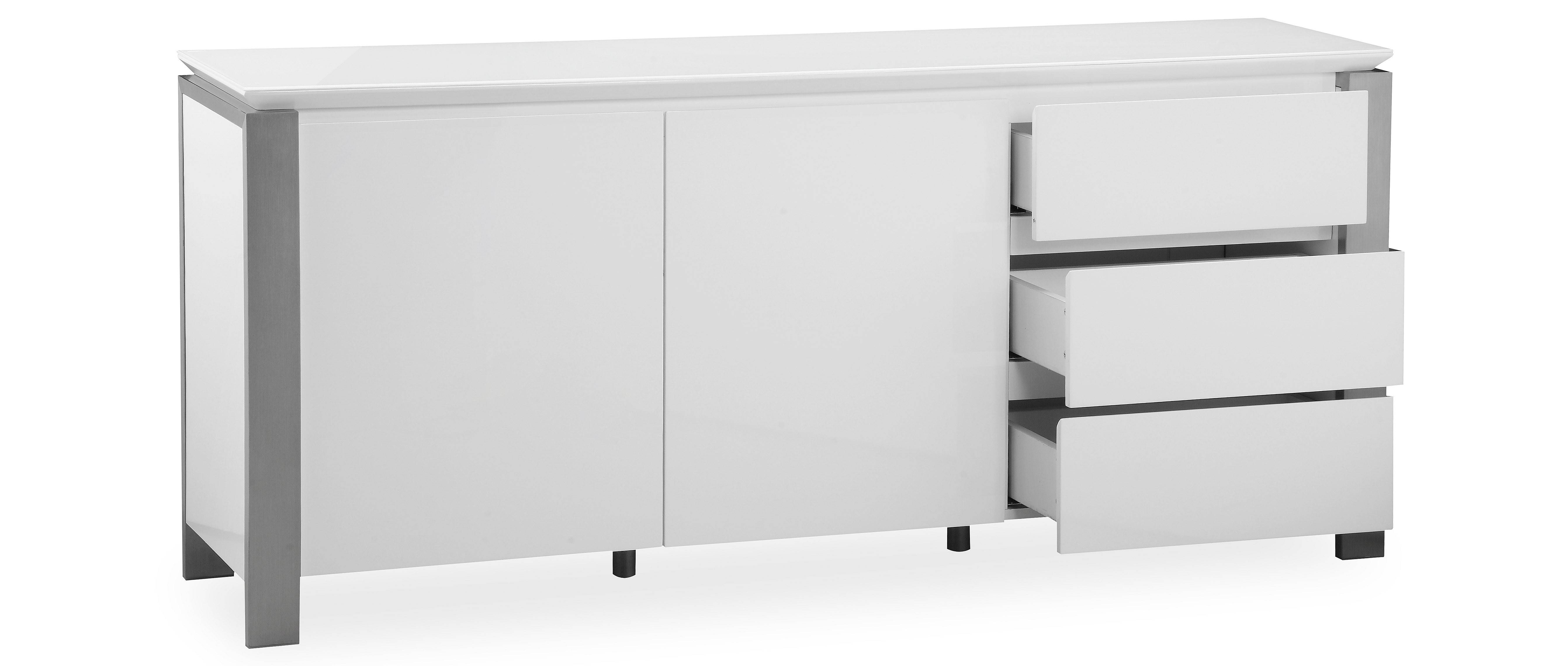 Tribeca – Extra Large Sideboard – White High Gloss For Large White Sideboard (#20 of 20)