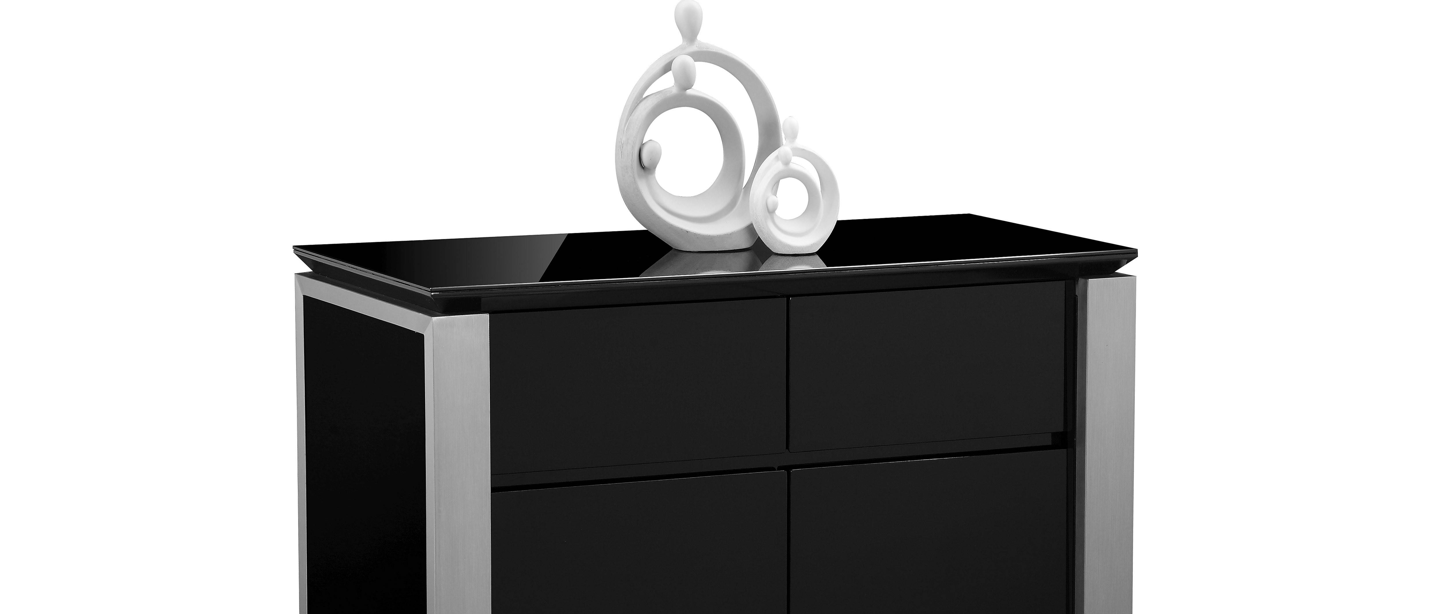 Tribeca – Medium Sideboard – Black High Gloss With Black High Gloss Sideboard (#20 of 20)