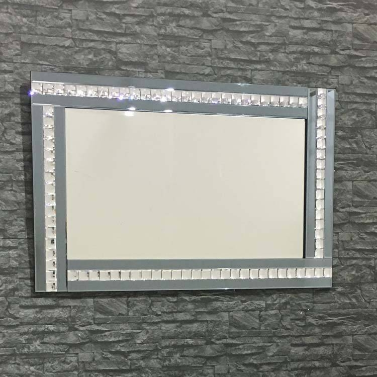 Triple Bar Smoke Glass Crystal Framed Mirror 120 X 80Cm Triple Bar Within Triple Mirrors (#23 of 30)