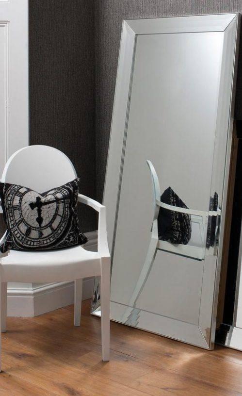 Triple Bevel Frame Large Leaner Venetian Mirror | French Mirror In Venetian Bevelled Mirrors (#17 of 20)