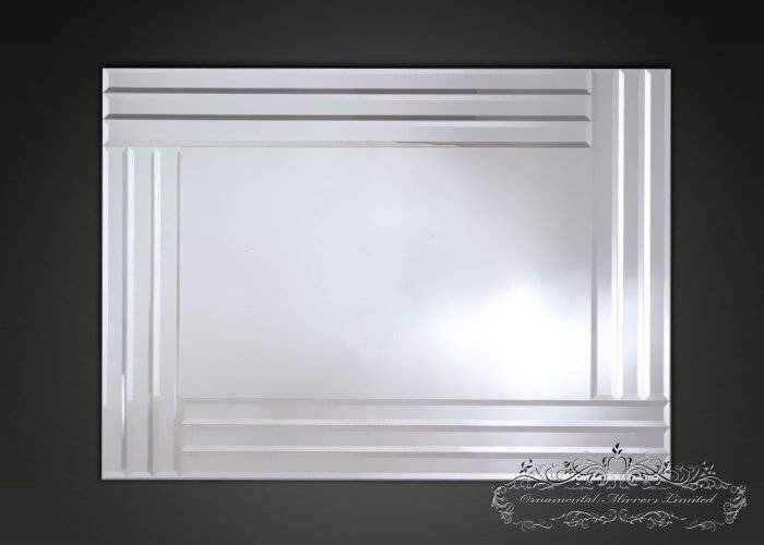 Triple Edge Bevelled Mirror With Large Bevelled Edge Mirrors (View 21 of 30)
