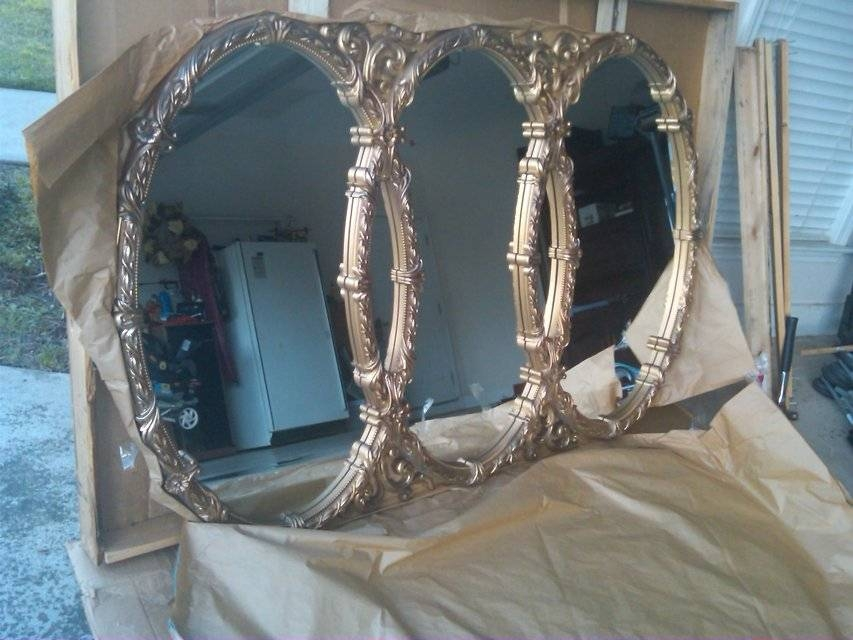 Triple Oval Mirror | Home Decor For Sale On Montgomery Bookoo! With Triple Oval Mirrors (#15 of 20)