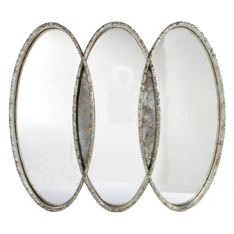 Triple Oval Overlapping Mirror : Fresh Home Improvement News For Triple Oval Wall Mirrors (#11 of 20)