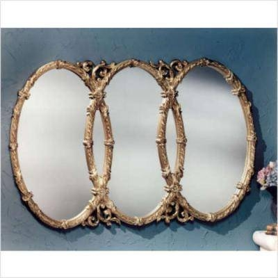 Triple Oval Overlapping Mirror : Fresh Home Improvement News With Triple Mirrors (#27 of 30)