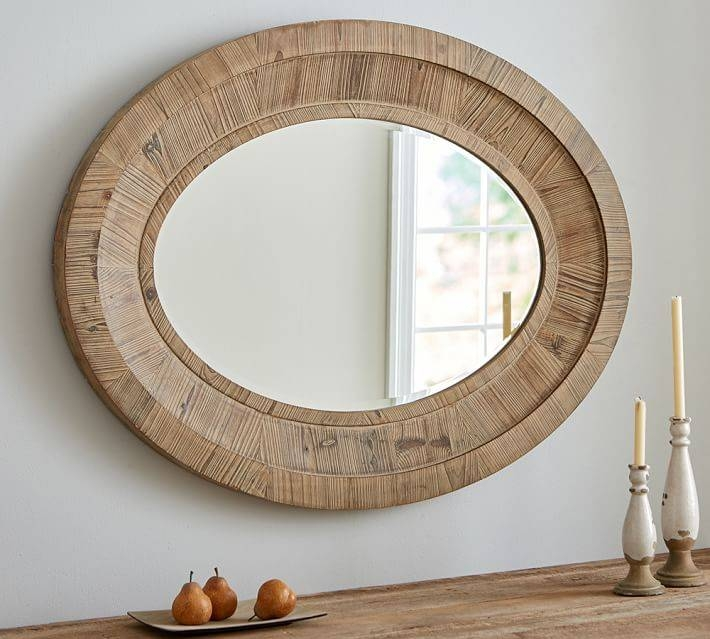 Triple Oval Wall Mirror – Oval Wall Mirror For The Elegant One To With Triple Wall Mirrors (#24 of 30)