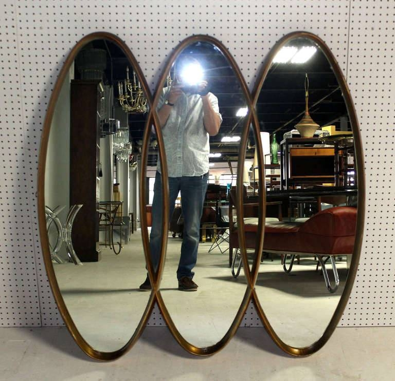 Triple Overlapping Oval, Mid Century Modern Mirror At 1Stdibs For Triple Oval Mirrors (#17 of 20)