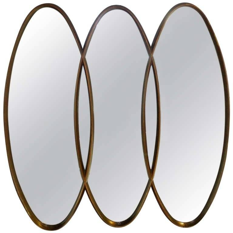 Triple Overlapping Oval, Mid Century Modern Mirror At 1Stdibs Regarding Triple Oval Mirrors (#19 of 20)