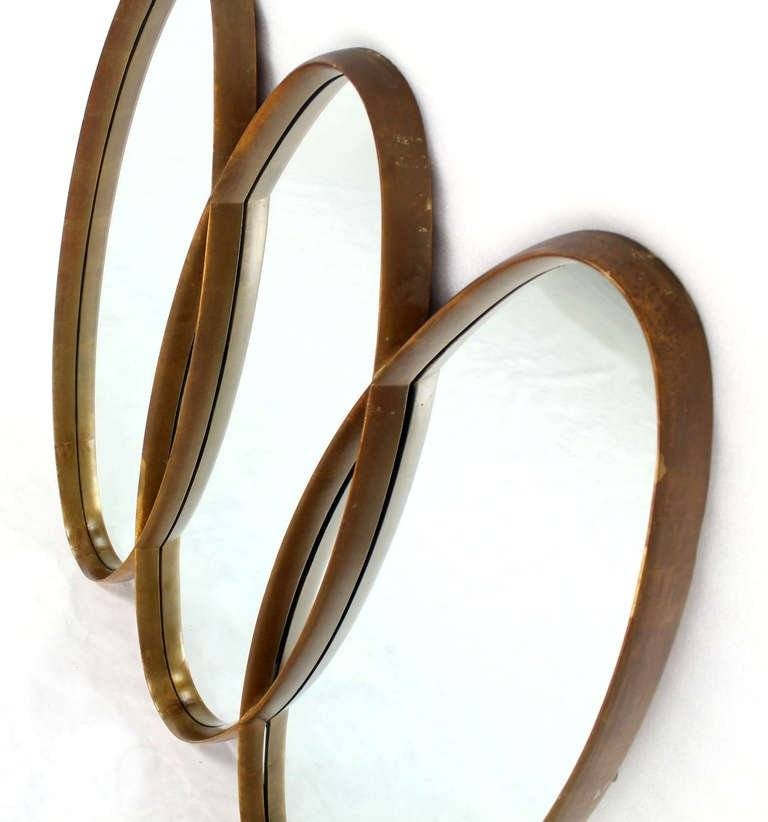 Triple Overlapping Oval, Mid Century Modern Mirror At 1Stdibs Throughout Triple Oval Wall Mirrors (#17 of 20)