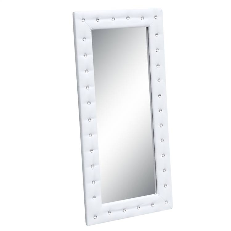 Tufted Mirror Intended For Black Faux Leather Mirrors (#17 of 20)