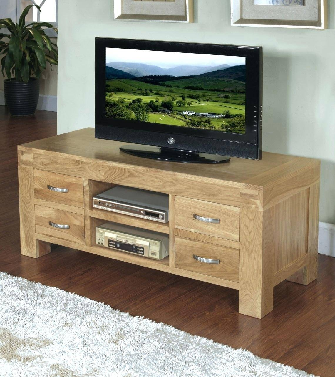 Tv Stand Cabinet Unit Large 16mtr Black Gloss Stainless Modern Inside Corner Sideboard Unit (View 6 of 20)