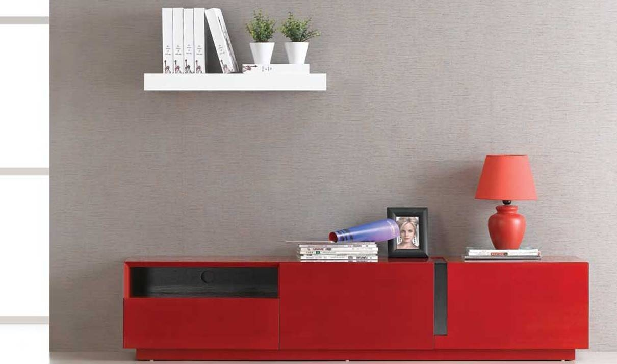 Tv027 Modern Tv Stand In Red High Gloss | Free Shipping | Get Regarding Red High Gloss Sideboard (View 6 of 20)