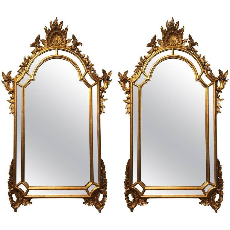 Two Labarge Gilt Rococo Style Mirrors For Sale At 1Stdibs Intended For Rococo Style Mirrors (#26 of 30)