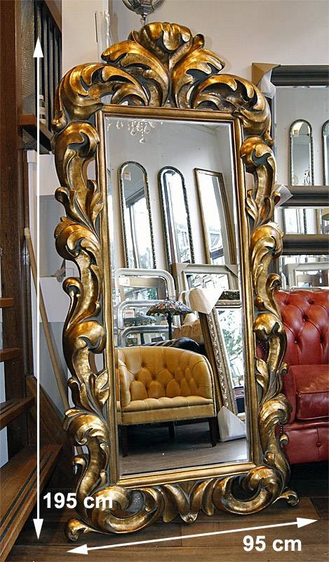 Typical English Decorations  Antique Gold Baroque Rococo Framed Mirror Throughout Gold Baroque Mirrors (#28 of 30)