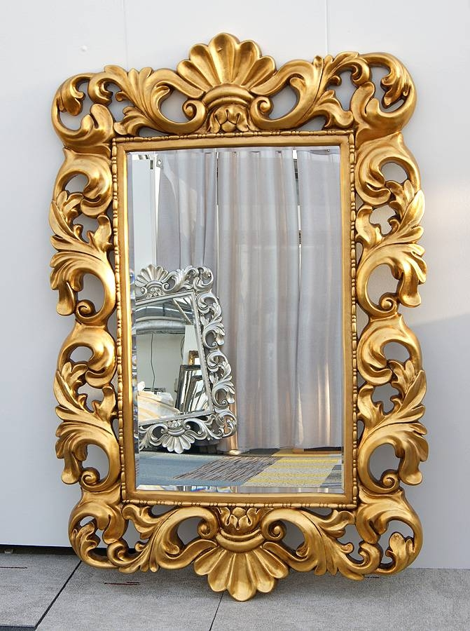 Typical English Decorations  Gold Baroque Rococo Framed Mirror In Gold Baroque Mirrors (#29 of 30)