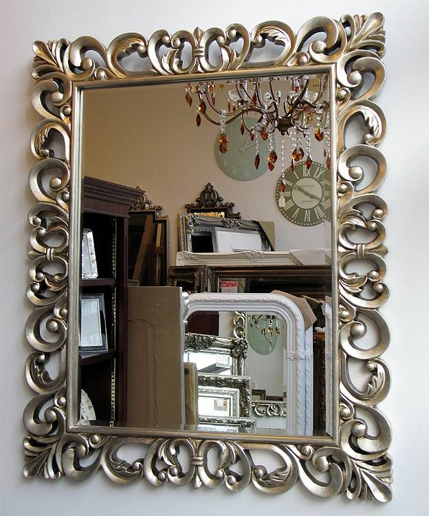 Popular Photo of Silver Baroque Mirrors