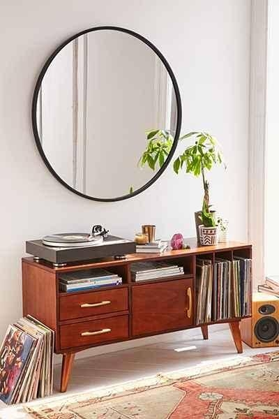 Inspiration about Umbra Oversized Hub Mirror Pertaining To Black Round Mirrors (#18 of 20)