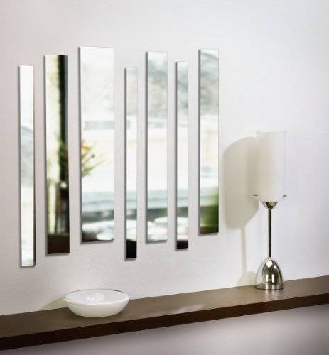 Umbra Strip Wall Mount Mirrors Set Of 7 Throughout Frameless Wall Mirrors (#25 of 30)