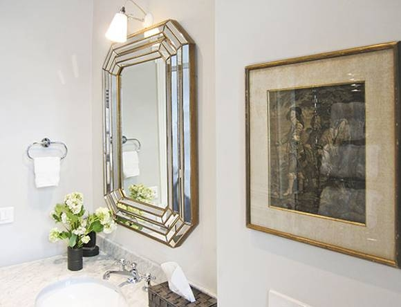 Inspiration about Unexpected Mirrors In Bathrooms – Little Green Notebook Within Venetian Bathroom Mirrors (#20 of 20)