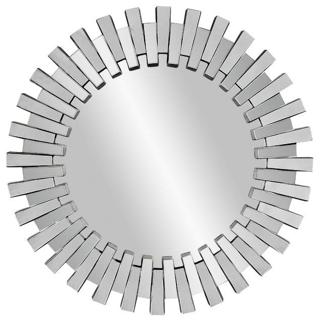 Inspiration about Unique Modern Round Mirrors Classic Silver Leaf Wavy Mirror Inside Circular Wall Mirrors (#5 of 20)