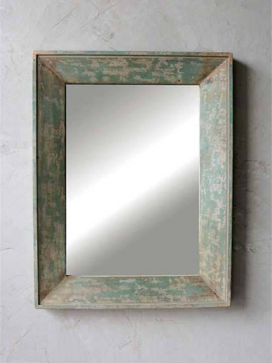 Unique, One Of A Kind Mirror Furniture • One Of A Find Rustic Throughout Blue Distressed Mirrors (#30 of 30)