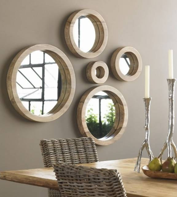Inspiration about Unique Wall Mirrors. Charming Foyer Tables Gets Update Unique Pertaining To Unique Round Mirrors (#17 of 30)