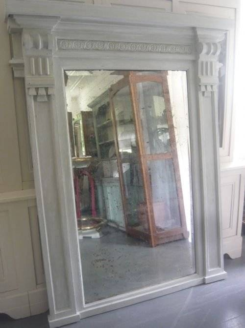 Unusual Large 18Th Century Architectural Painted Overmantel For Unusual Large Mirrors (#16 of 20)