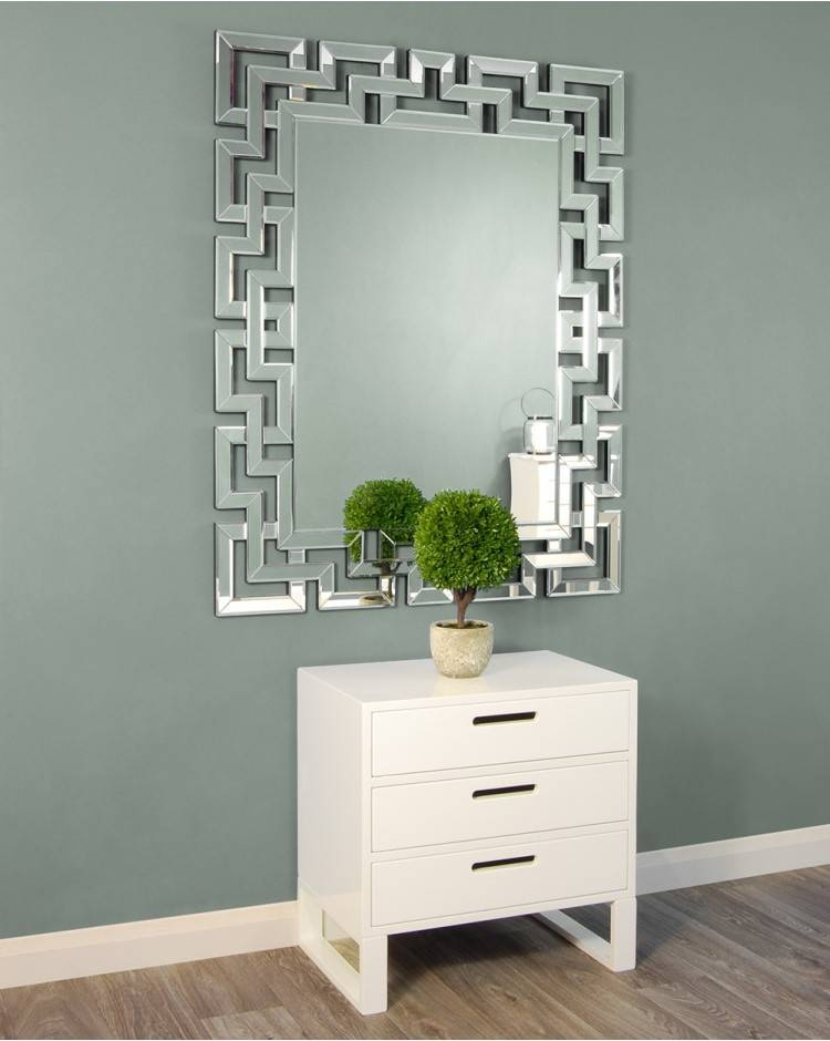 Unusual Mirrors | The Chandelier & Mirror Company With Frameless Large Wall Mirrors (#20 of 20)