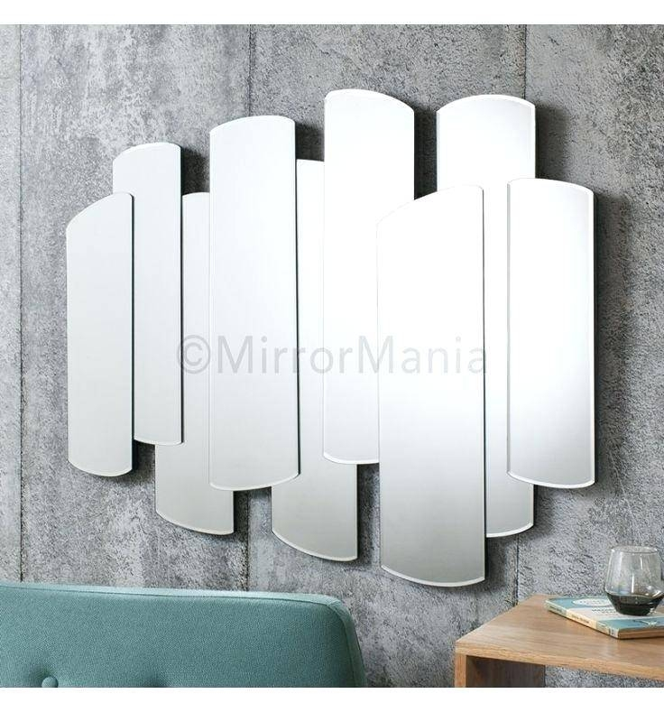 Unusual Small Geometric Shaped Beveled Frameless Mirror With Unusual Shaped Mirrors (#20 of 20)