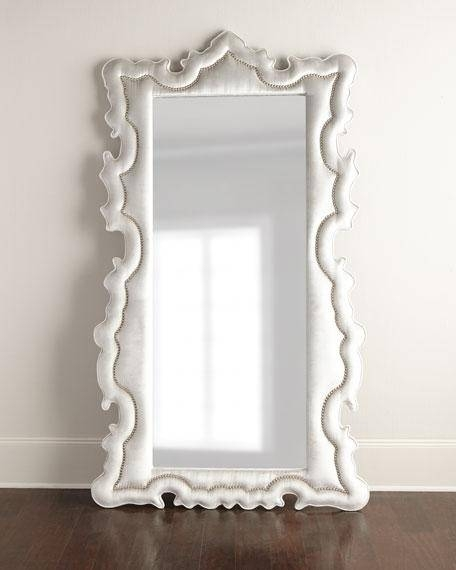 Upholstered Curved Ornate Floor Mirror Intended For Ornate Floor Mirrors (#29 of 30)