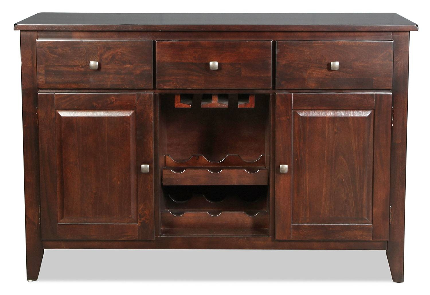 Inspiration about Urban View Buffet – Dark Cherry | Levin Furniture In Dark Brown Sideboard (#17 of 20)