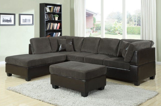 Inspiration about Uscanada L Shape Sofas In Dark Greysofa Set With Tablefabric Sofas Inside L Shaped Fabric Sofas (#6 of 15)