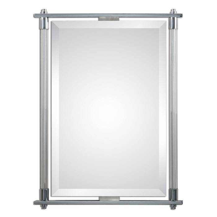"Inspiration about Uttermost 01127 Adara Polished Chrome Plated Finish 36"" Tall Regarding Chrome Wall Mirrors (#19 of 20)"