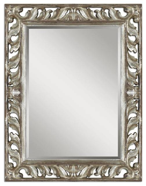 Inspiration about Uttermost 09511 Vitaliano Distressed Silver Mirror – Contemporary In Distressed Silver Mirrors (#11 of 20)