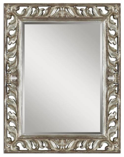 Uttermost 09511 Vitaliano Distressed Silver Mirror – Contemporary In Distressed Silver Mirrors (#20 of 20)