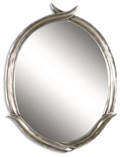 Inspiration about Uttermost 11831 P Tree Of Life Small Oval Mirror – Contemporary With Small Silver Mirrors (#17 of 20)