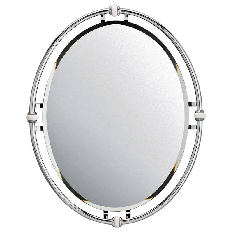 Inspiration about Uttermost Frameless Oval Beveled Vanity Mirror | Hayneedle For Oval White Mirrors (#25 of 30)