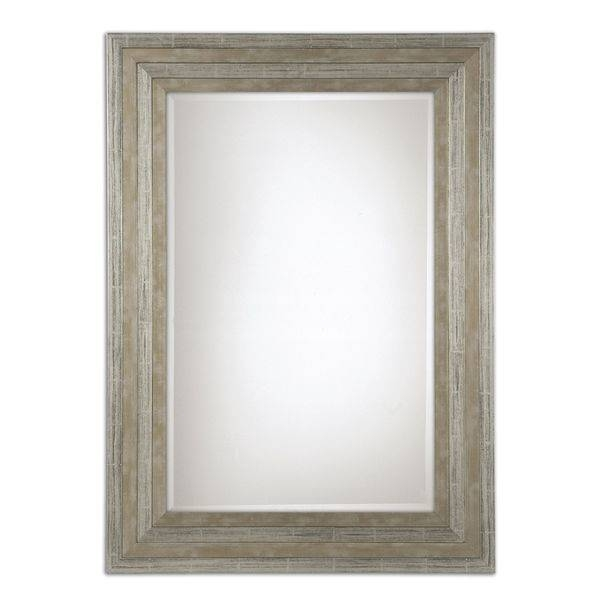 Inspiration about Uttermost Hallmar Distressed Silver Wood Framed Mirror – Free With Regard To Distressed Framed Mirrors (#6 of 30)