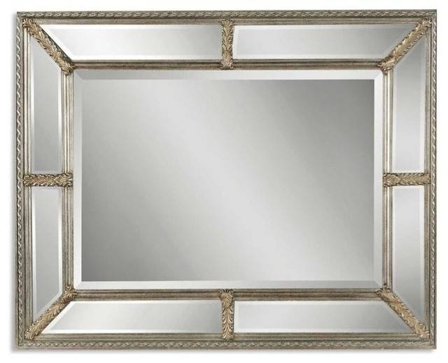 Inspiration about Uttermost Lucinda 49X37 Wall Mirror In Antiqued Silver Inside Antiqued Wall Mirrors (#9 of 20)