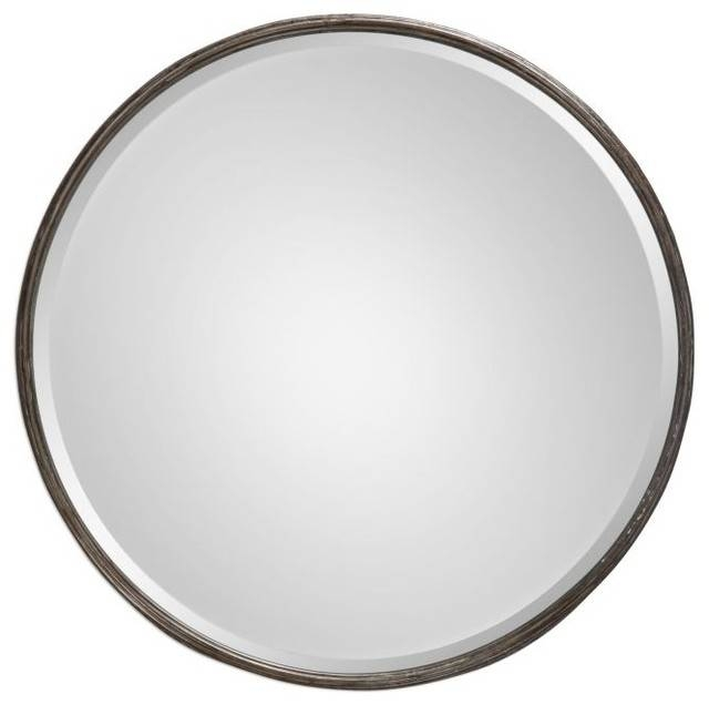 Inspiration about Uttermost Nova Decorative Mirror, Metal – Transitional – Wall Regarding White Metal Mirrors (#8 of 20)