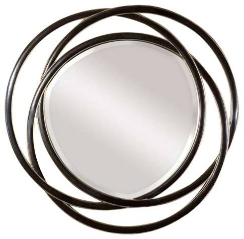 Uttermost Odalis Entwined Circles Black Mirror – Contemporary In Black Circle Mirrors (#20 of 20)