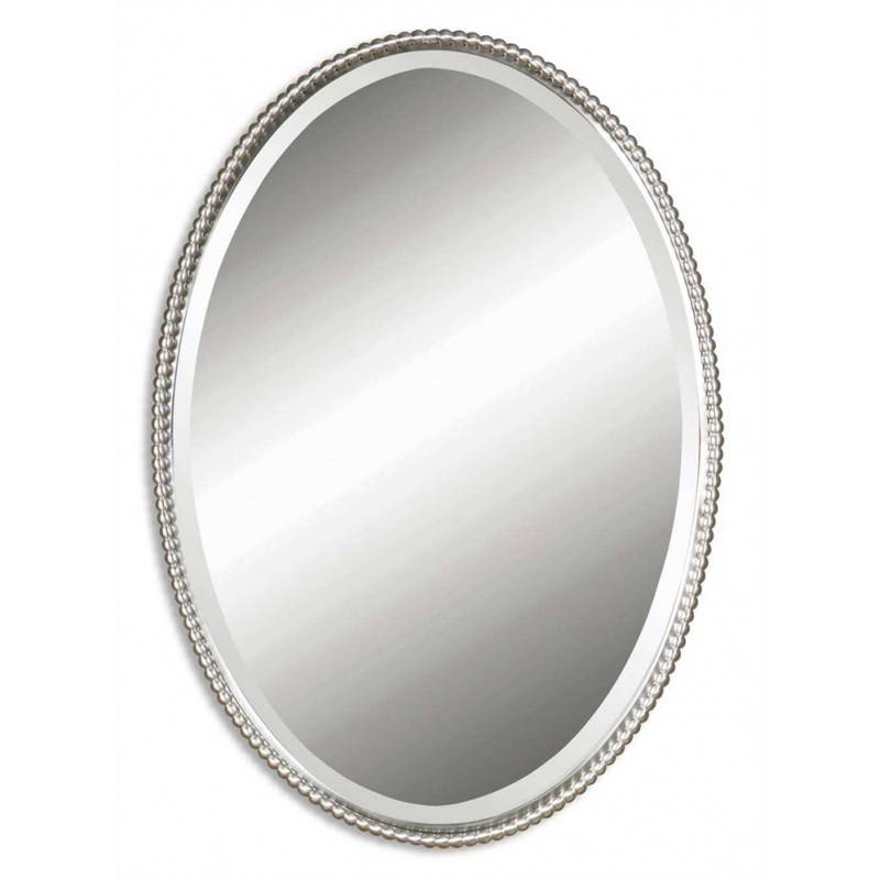 Uttermost Sherise, Oval Wall Mirror Nickel Finish – The Mansion Throughout White Oval Wall Mirrors (#28 of 30)