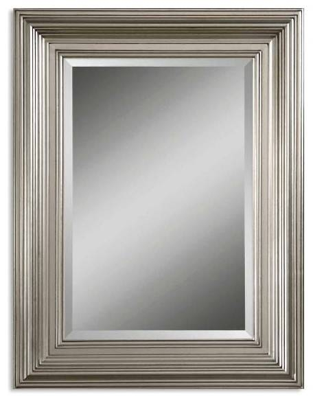Inspiration about Uttermost Silver Leaf Mario Silver Mirror – Traditional – Wall Pertaining To Rectangular Silver Mirrors (#21 of 30)