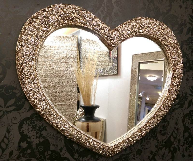 Valentine's Day 2017 – Highly Decorated Heart Shaped Wall Mirrors Regarding Heart Shaped Mirrors For Wall (#20 of 20)