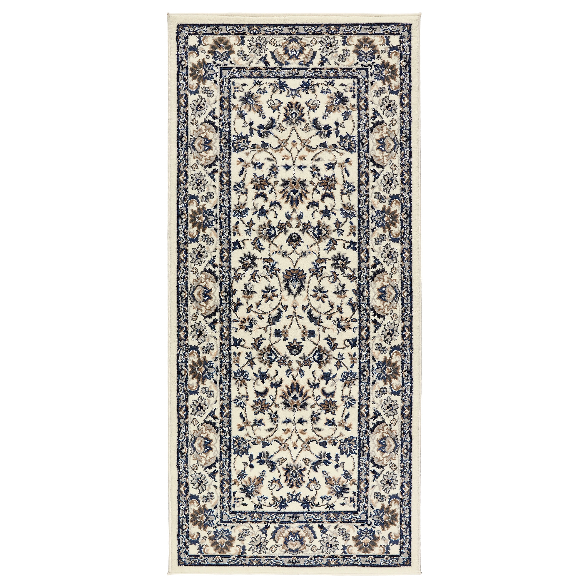 Vall Rug Low Pile Beigeblue 80×180 Cm Ikea In Hallway Runner Rugs Ikea (#20 of 20)