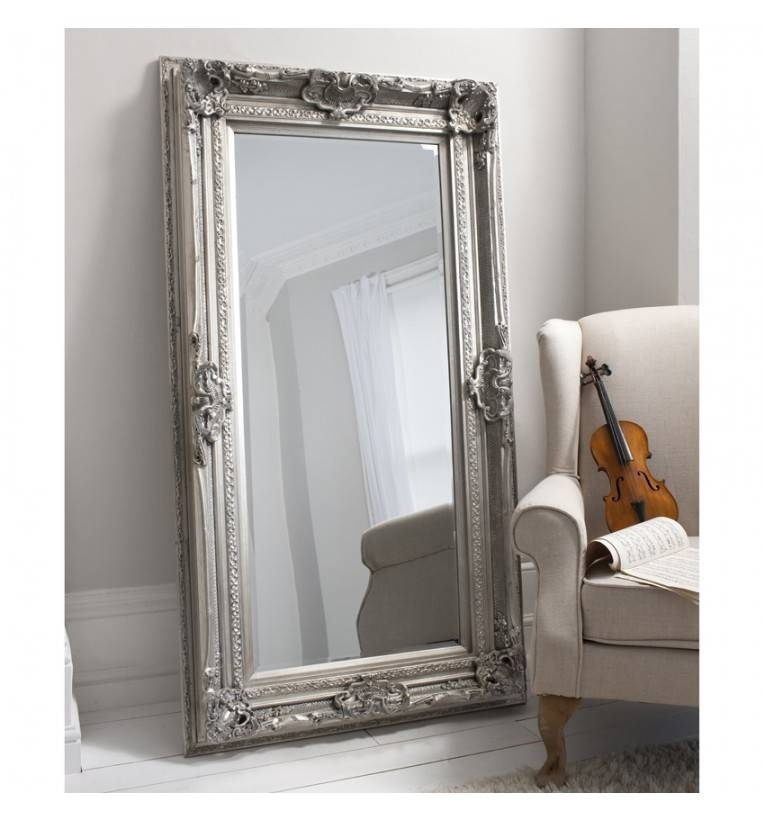 Inspiration about Valois French Ornate Silver Leaner Wall Mirror For French Wall Mirrors (#8 of 20)