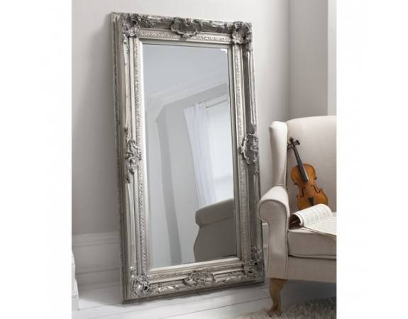 Inspiration about Valois Mirror Silver Leaf   Tall Leaner Mirror   French Style Inside French Style Mirrors (#7 of 30)