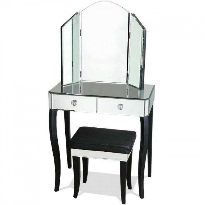Vanity Table With Mirror Brisbane And Dressing Table With Mirror Throughout Black Dressing Mirrors (View 7 of 20)