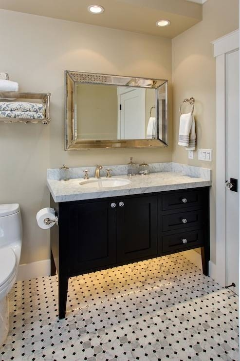 Inspiration about Venetian Beaded Mirror – Transitional – Bathroom – Geoff Chick Regarding Venetian Bathroom Mirrors (#13 of 20)