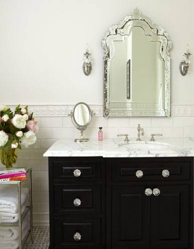 Venetian Beaded Mirror – Transitional – Bathroom – Tiek Built Homes Regarding Venetian Bathroom Mirrors (#15 of 20)